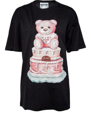 Oversize-T-Shirt mit Bärchen-Motivprint-0