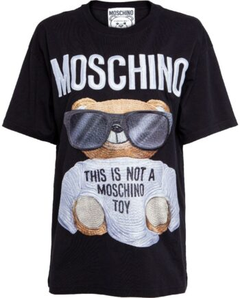 Oversize T-Shirt in Baumwolle mit Bärchenmotiv-0