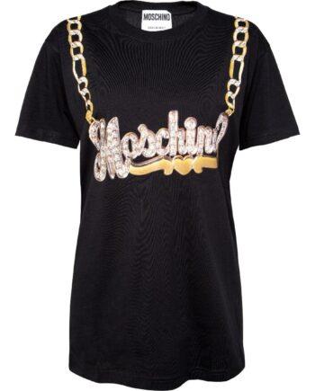 Oversize-T-Shirt mit Logo-Motivprint-0