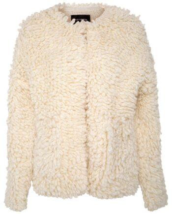 Grobstrick-Cardigan im Alpaca-Wolle-Gemisch mit Häckchenschließe-0