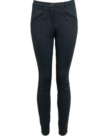 Hochelastische Slim-Pant im Low-Rise-Cut, Zipp-Details und seitlicher Schließe-0