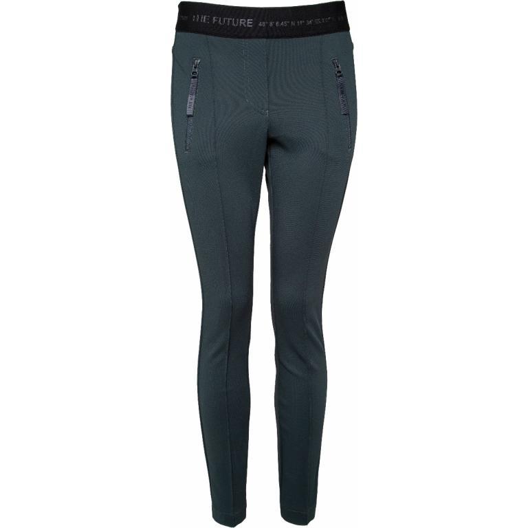 Leggings mit breitem Elastik-Bündchen und Zipp-Details-0