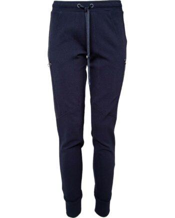 Jogg-Pants mit breitem, elastischen Bündchen und Zipp-Details-0