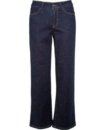 Jeans im Crop-Cut mit geradem, weitem Beinschnitt-0