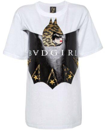 T-Shirt im geraden Schnitt mit Badgirl-Comicmotiv-0
