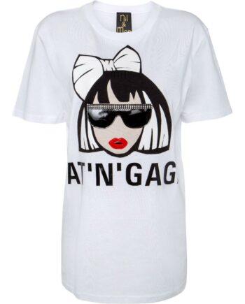 T-Shirt im geraden Schnitt mit Bat'n'Gaga Comicprint-0