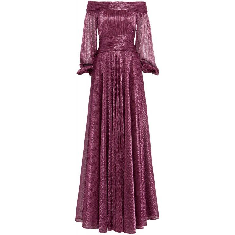 Figurbetontes Abendkleid mit drapiertem Ausschnitt-0