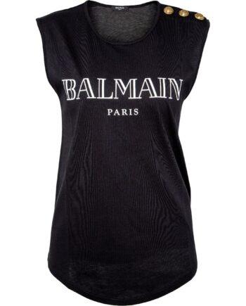 T-Shirt mit Logomotiv, Zierkknöpfen und rundem Saum-0