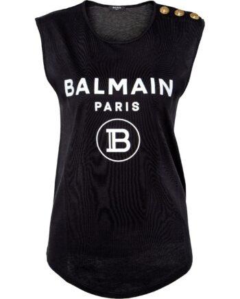 T-Shirt mit Logo-Emblemmotiv, Zierkknöpfen und rundem Saum-0