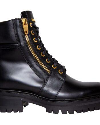 Ranger Boots mit seitlichen Zipp und goldenen Logo auf der Schuhzunge-0