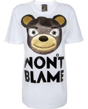 T-Shirt im geraden Schnitt mit Bärchenmotivprint-0
