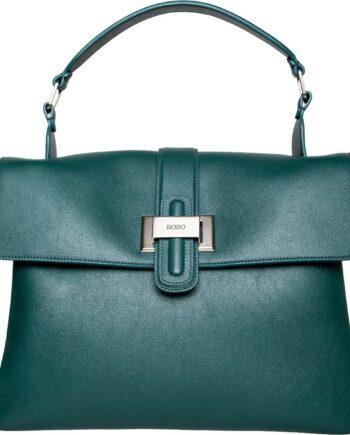 Große Soft-Henkel-Bag in Glattleder mit Schleifenschließe-0