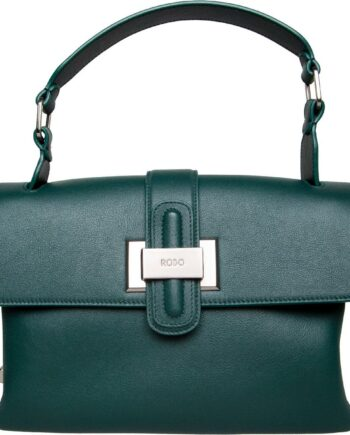 Kleine Soft-Henkel-Bag in Glattleder mit Schleifenschließe-0
