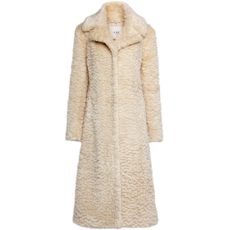 Knielanger Mantel aus Eco-Fur-0