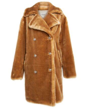 Oversize Eco-Fur Mantel aus Nerz Imitat-0