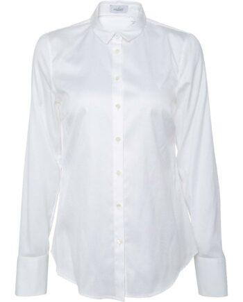 Slim-Cut-Bluse in Baumwolle aus struktueriertem Material-0