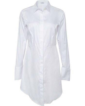 Long-Bluse aus Stretch-Baumwolle-0