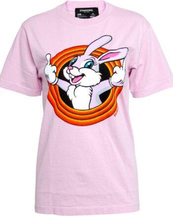 Oversize T-Shirt in Baumwolle mit Hasenprint-0