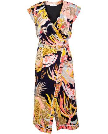 Wickelkleid in knielänge mit ornamentalem Musterprint-0