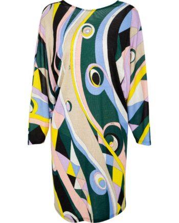 Mini-Kleid im Schurwollegemisch mit ornamentalem Muster und weiten Ärmeln-0