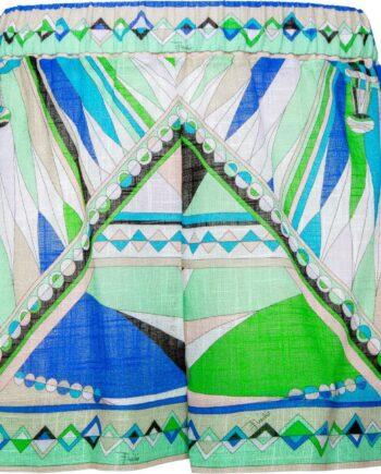 Shorts in Baumwolle mit ornamentalem Musterprint-0