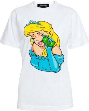 Slim Cut T-Shirt in Baumwolle mit Cinderellaprint-0