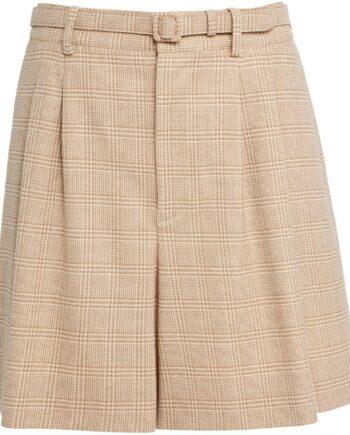 Winter-Shorts aus Wolle mit schmalen Gürtel-0
