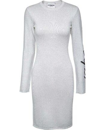 Kurzes, silhouettennahes Kleid mit Logo-Detail am Ärmel-0