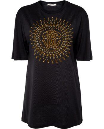 Oversize-Shirt in Baumwolle mit runder Ornament-Stickerei-0