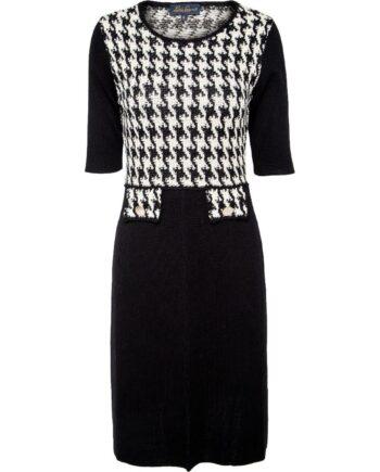 Kniebedeckendes, silhouettennahes Kleid in Stretch-Schurwolle-0