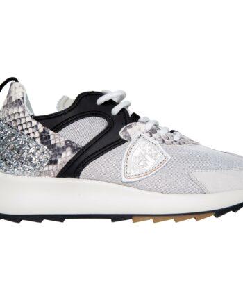 Sneakers im Materialmix mit Profilsohle-0